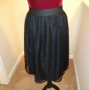 Xhilaration Black lace skirt